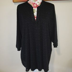 Star pattern blouse. 2X